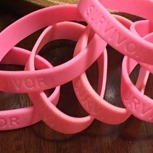 Breast Cancer Awareness SURVIVOR Rubber Bracelets